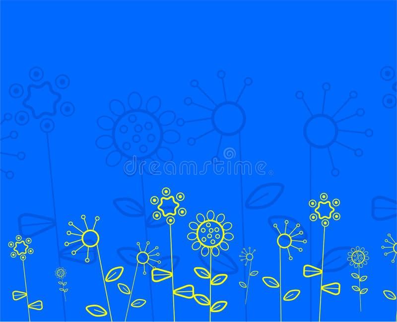 Sottragga il reticolo floreale illustrazione di stock