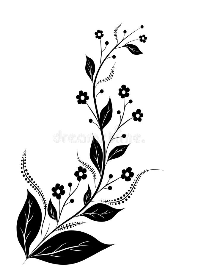 Sottragga la decorazione floreale fotografie stock libere for Decorazione floreale