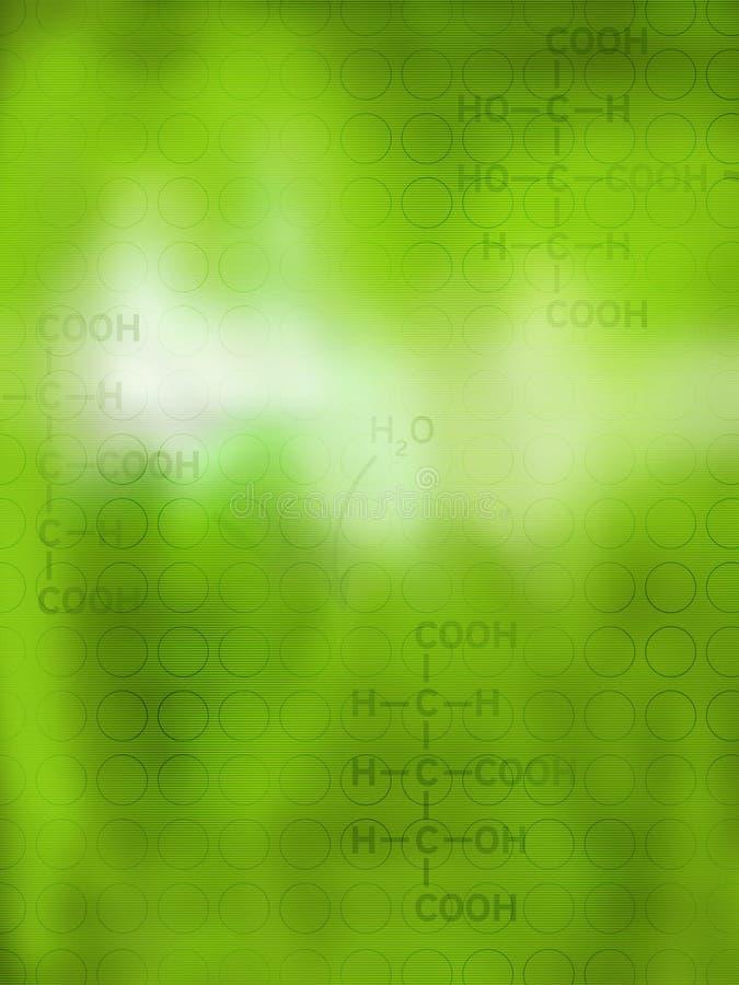 Sottragga la priorità bassa chimica illustrazione vettoriale