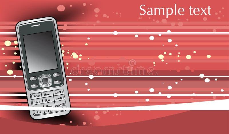 Fondo Astratto Con Il Telefono Cellulare Mobile Fotografie Stock Libere da Diritti