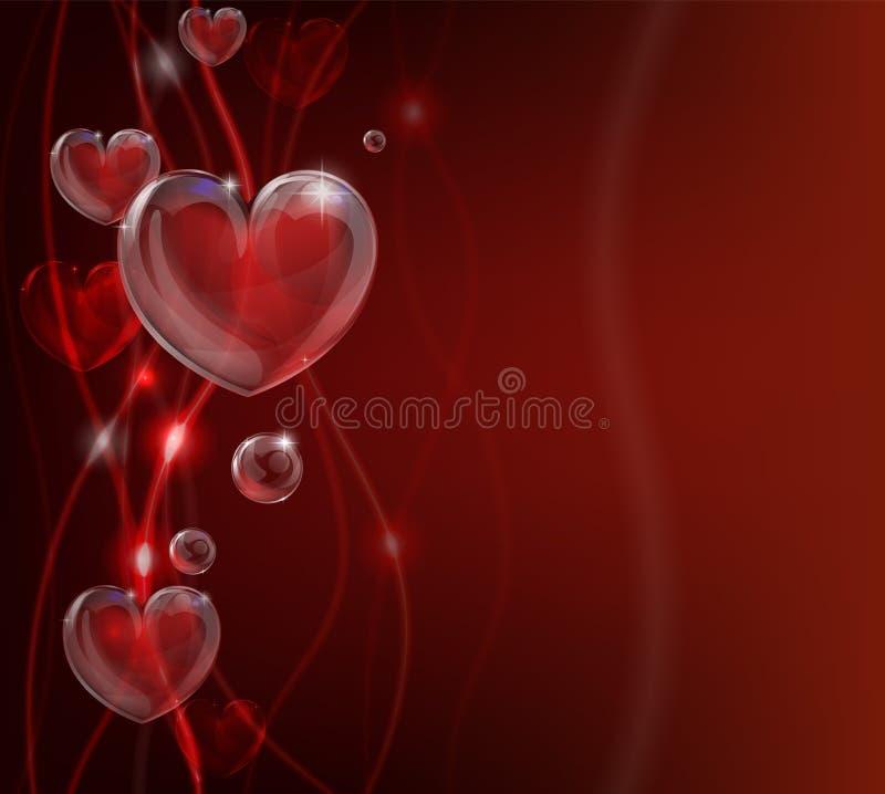 Sottragga la priorità bassa del cuore di giorno dei biglietti di S. Valentino royalty illustrazione gratis