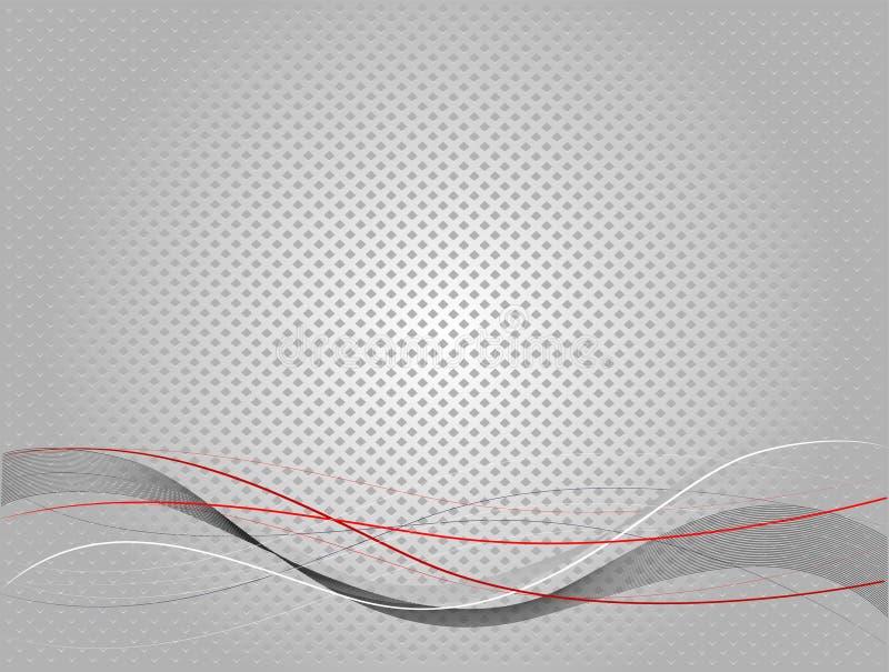 Sottragga la priorità bassa grigia di struttura illustrazione di stock