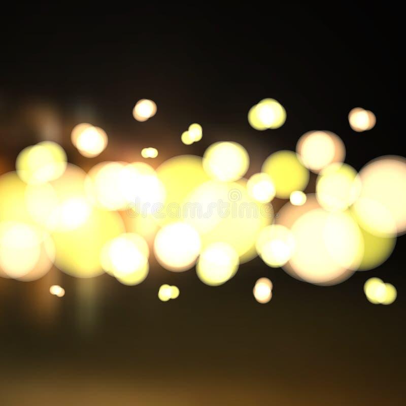 sottragga la priorità bassa Le luci della città nella distanza illustrazione di stock