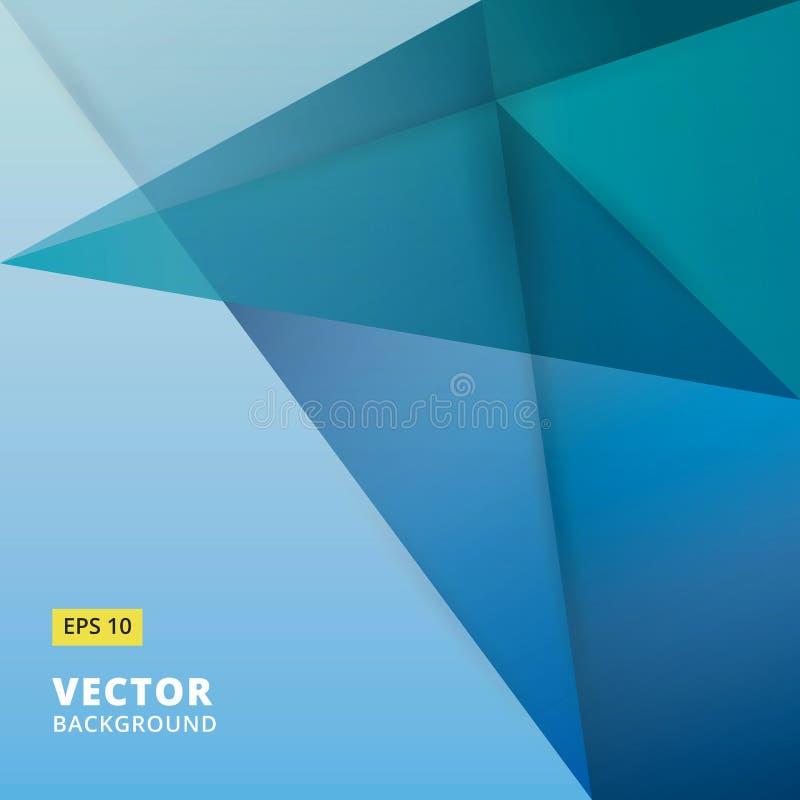 sottragga la priorità bassa Origami e colore blu geometrico OV del poligono illustrazione di stock
