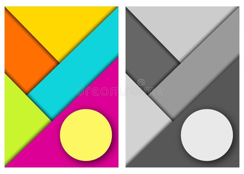sottragga la priorità bassa Progettazione materiale moderna illustrazione vettoriale