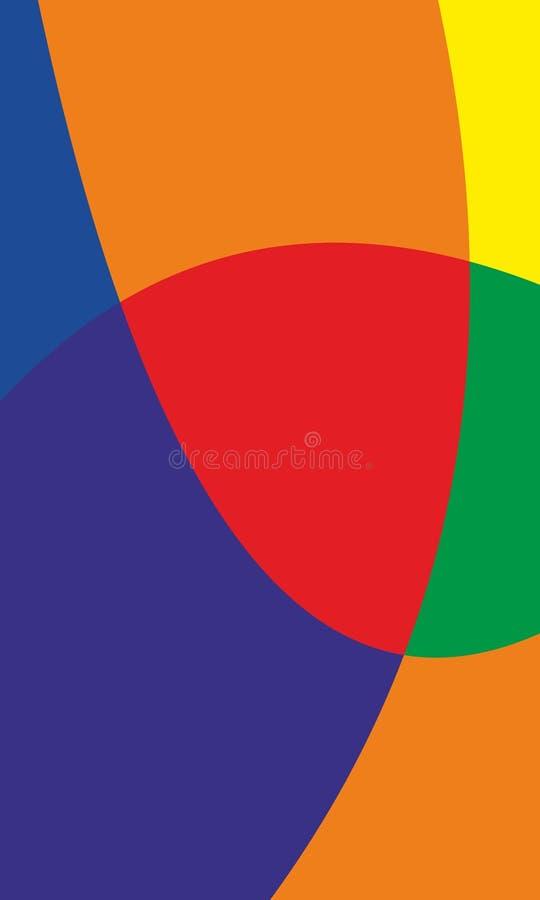 sottragga la priorit? bassa Fondo astratto blu e rosso Priorit? bassa astratta rossa royalty illustrazione gratis