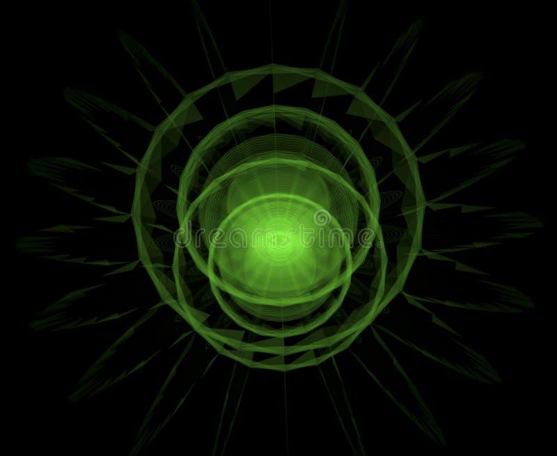 Sottragga tutto l'occhio vedente per l'astrologia, occulto e tribale, esoter illustrazione vettoriale