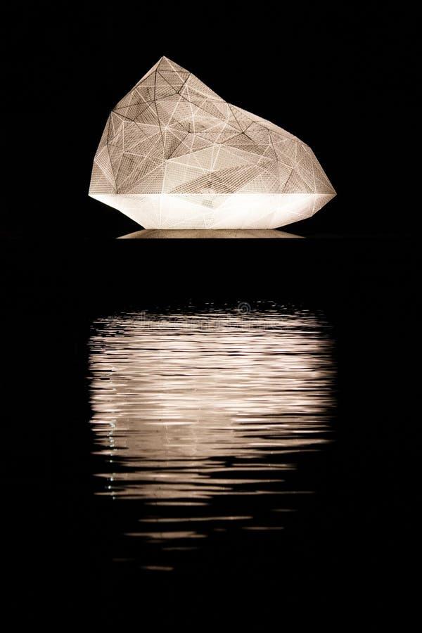 Sou Fujimoto`s Naoshima Pavilion made for the  Setouchi Triennial stock images