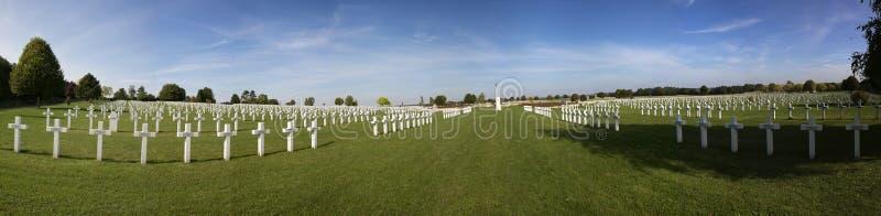 Souain公墓的全景 库存照片