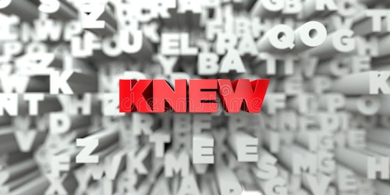 SOUBE - Texto vermelho no fundo da tipografia - 3D rendeu a imagem conservada em estoque livre dos direitos ilustração stock