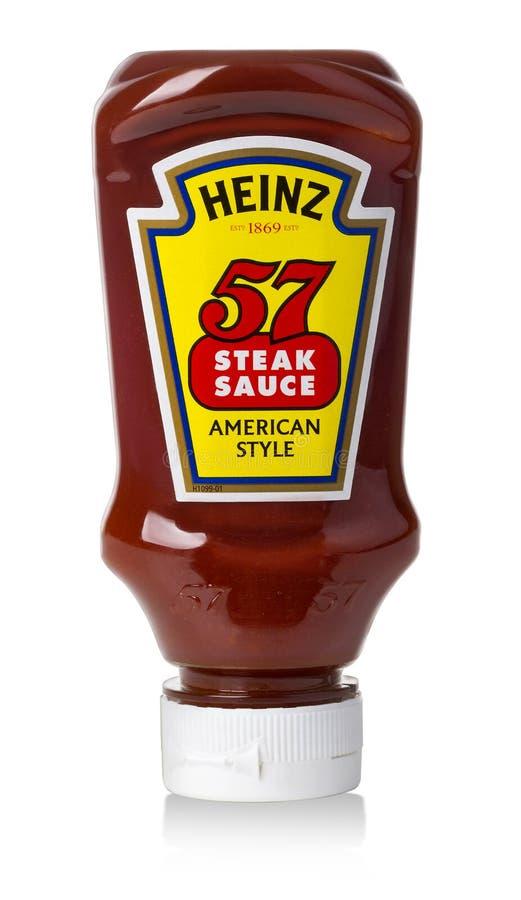 Souce do bife de Heinz imagem de stock