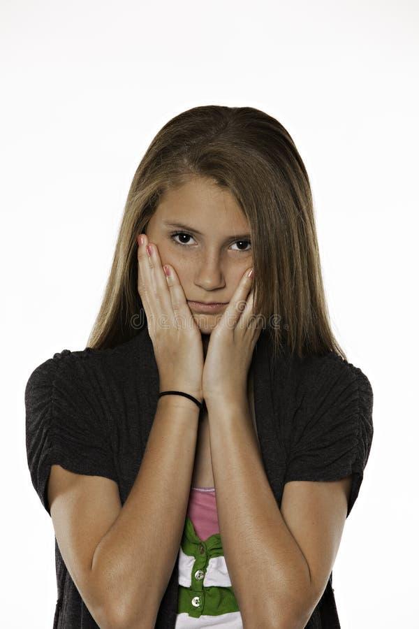 Souci d'apparence d'adolescente images stock