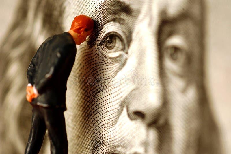 Soucis d'argent photographie stock libre de droits