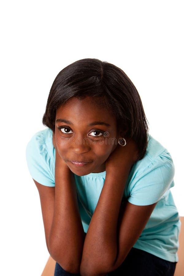 Soucis et problèmes tristes d'adolescent image stock