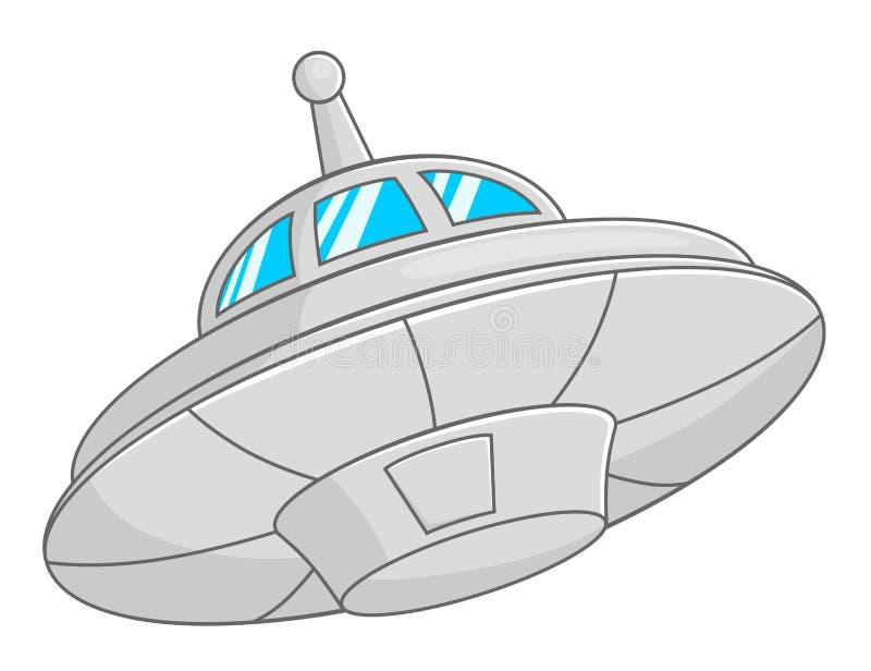 Soucoupe volante illustration de vecteur