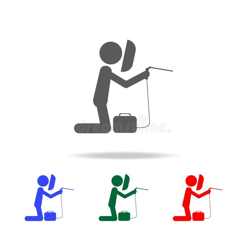 Soudeur Icon Éléments de profession de personnes dans les icônes colorées multi Icône de la meilleure qualité de conception graph illustration libre de droits