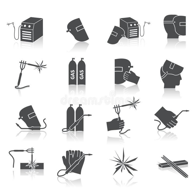 Soudeur Icons Set illustration libre de droits