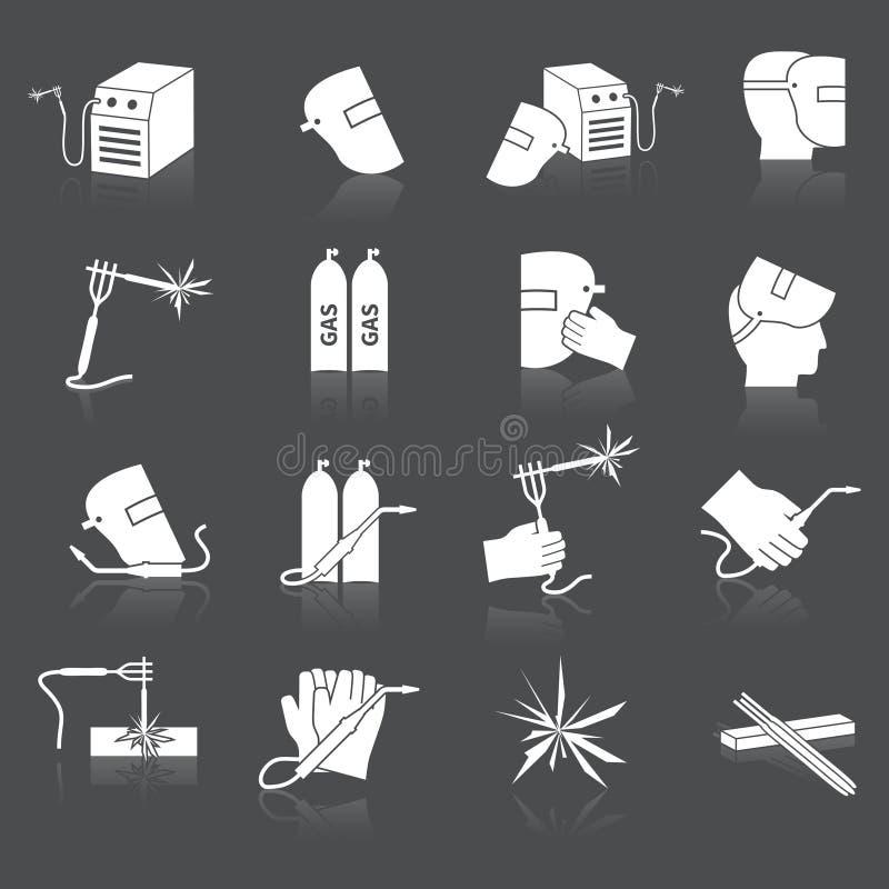 Soudeur Icons Set illustration de vecteur