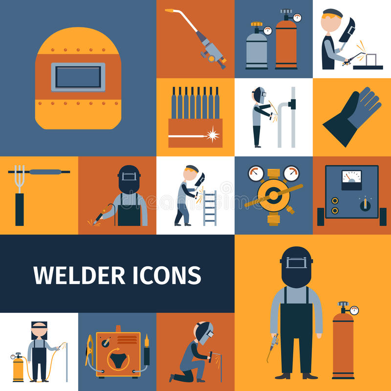 Soudeur Icons Set illustration de vecteur