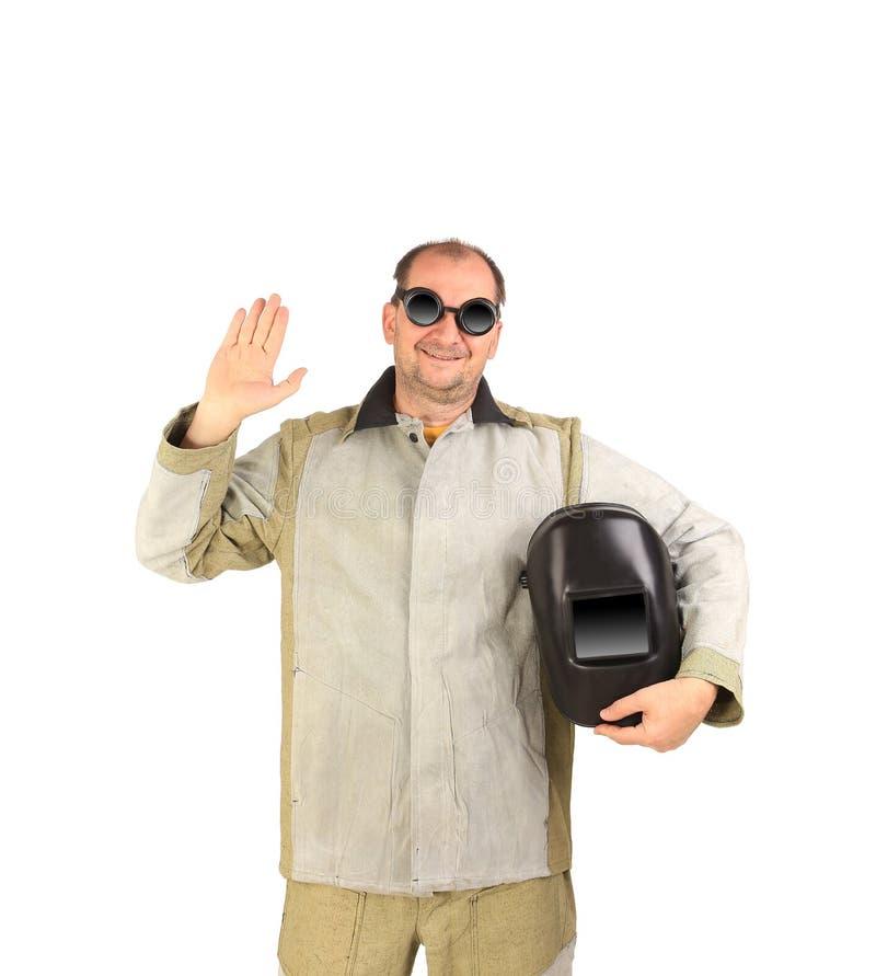 Soudeur sûr dans l'uniforme photographie stock