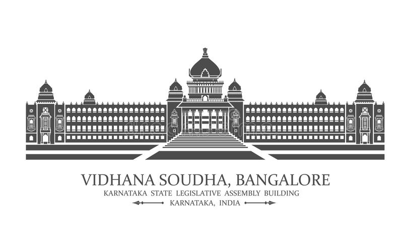 Soudha de Bangalore Vidhana illustration stock
