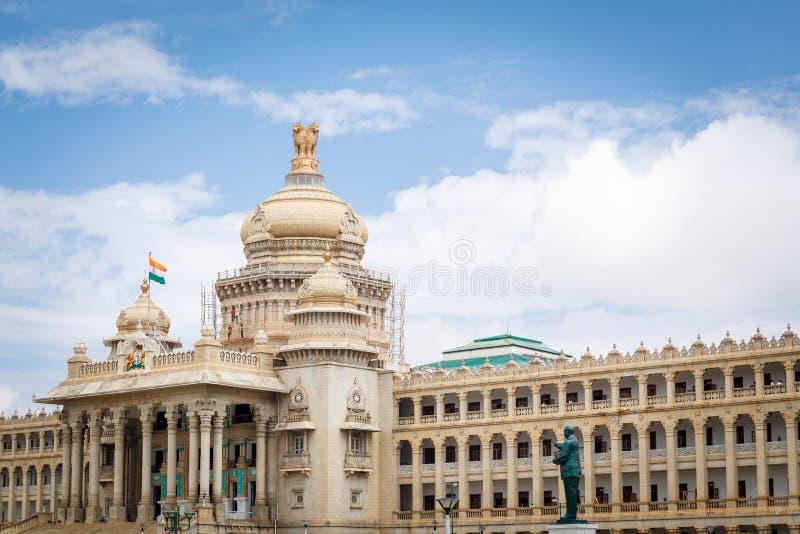 Soudha di Vidhana, Bangalore fotografie stock libere da diritti