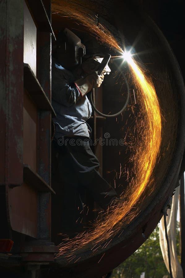 Soudure à l'arc électrique photographie stock