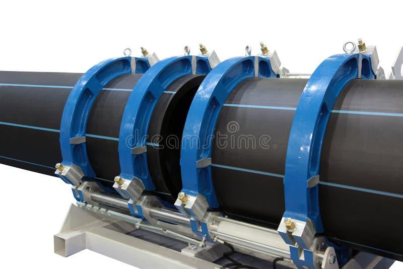 Soudure des pipes en plastique photographie stock libre de droits