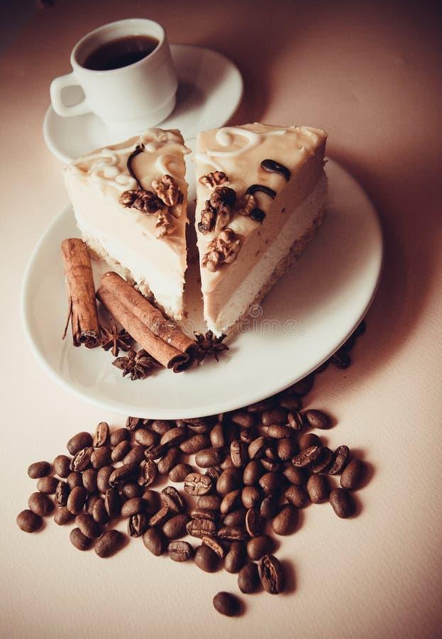 Soufflè e caffè di mattina immagine stock