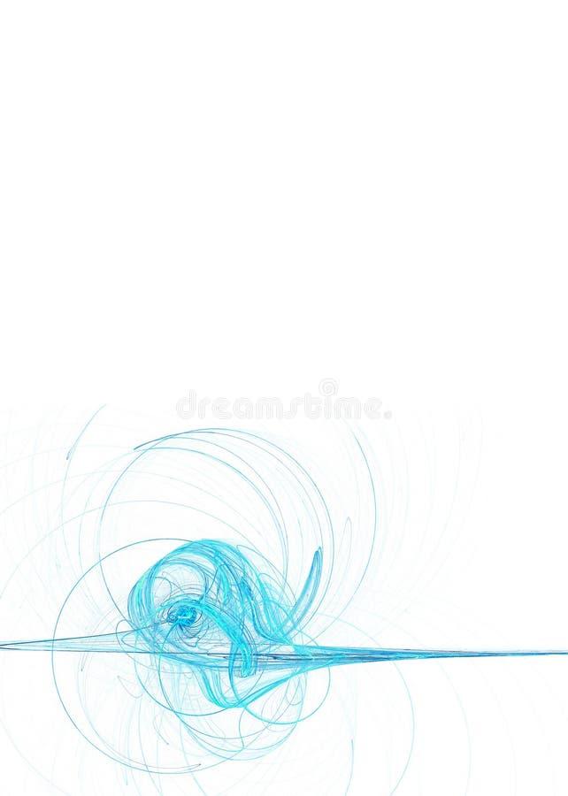 Souffle bleu illustration stock