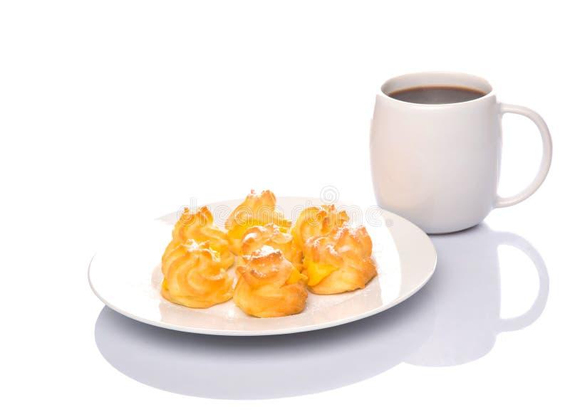 Souffle crème et café faits maison VI photo stock