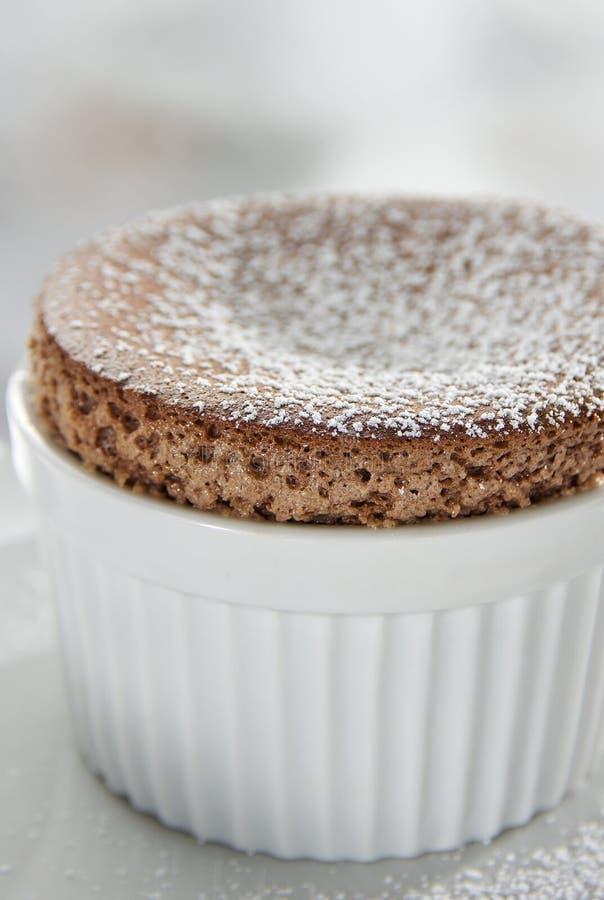Souffle do chocolate fotografia de stock