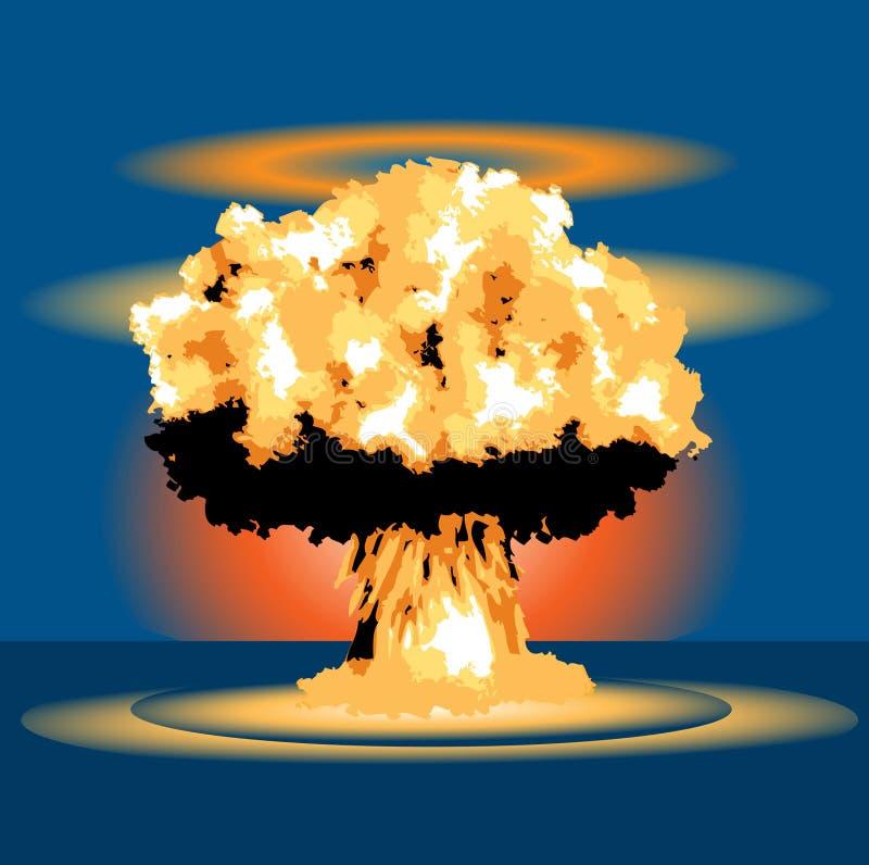Souffle nucléaire illustration libre de droits