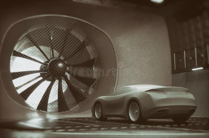 Soufflerie Clay Car Concept Design illustration de vecteur