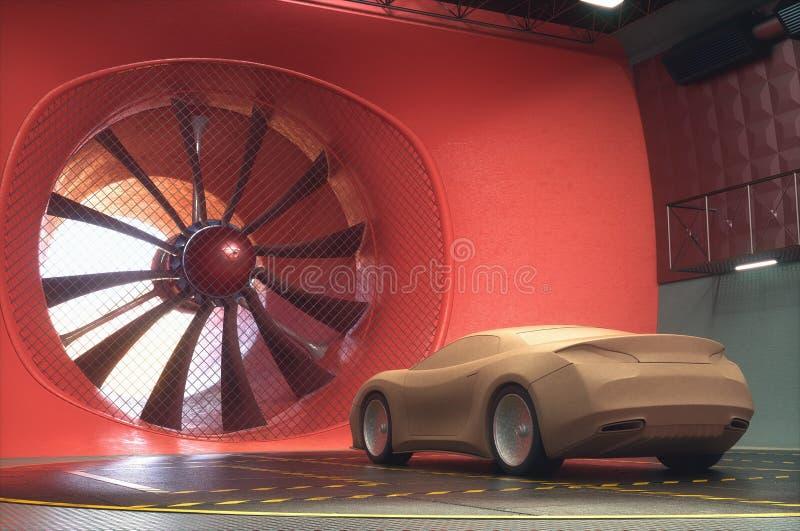 Soufflerie Clay Car Design Transportation illustration de vecteur