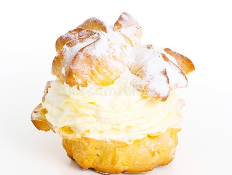 Souffles avec la crème fouettée image libre de droits