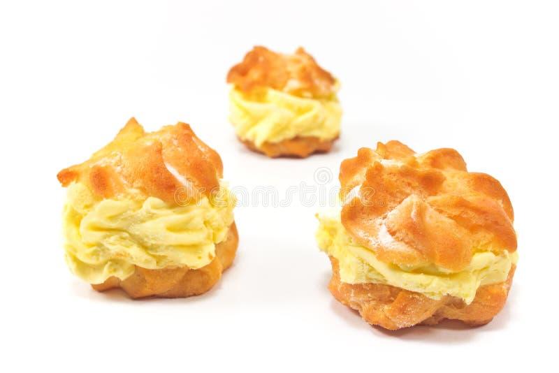 Souffles crèmes images stock