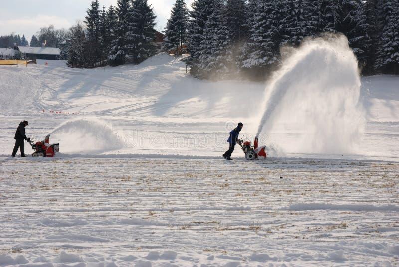 Souffleuse de neige photos stock