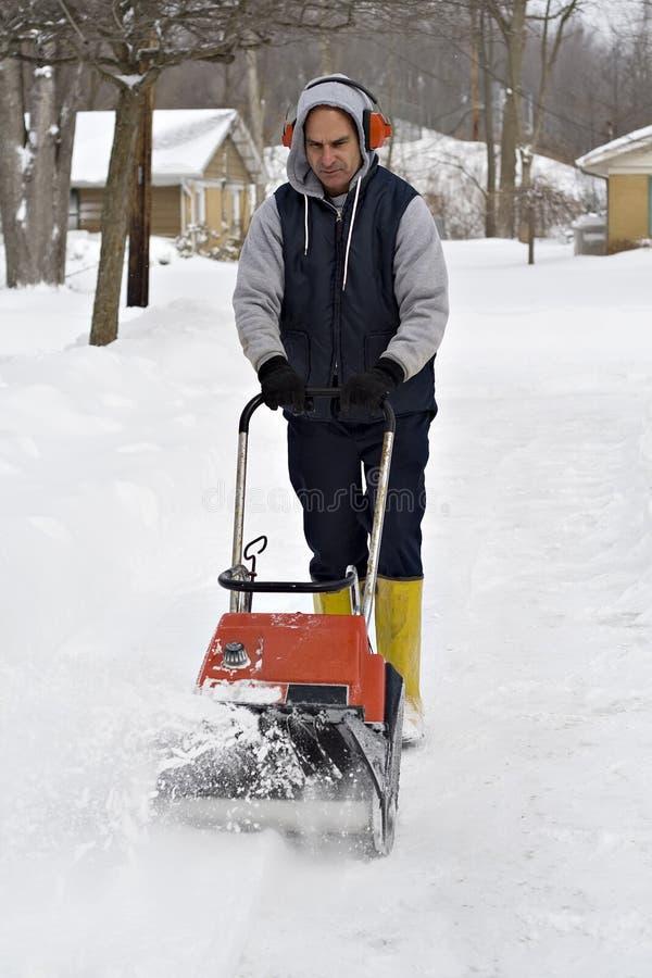 Souffleuse de neige images libres de droits