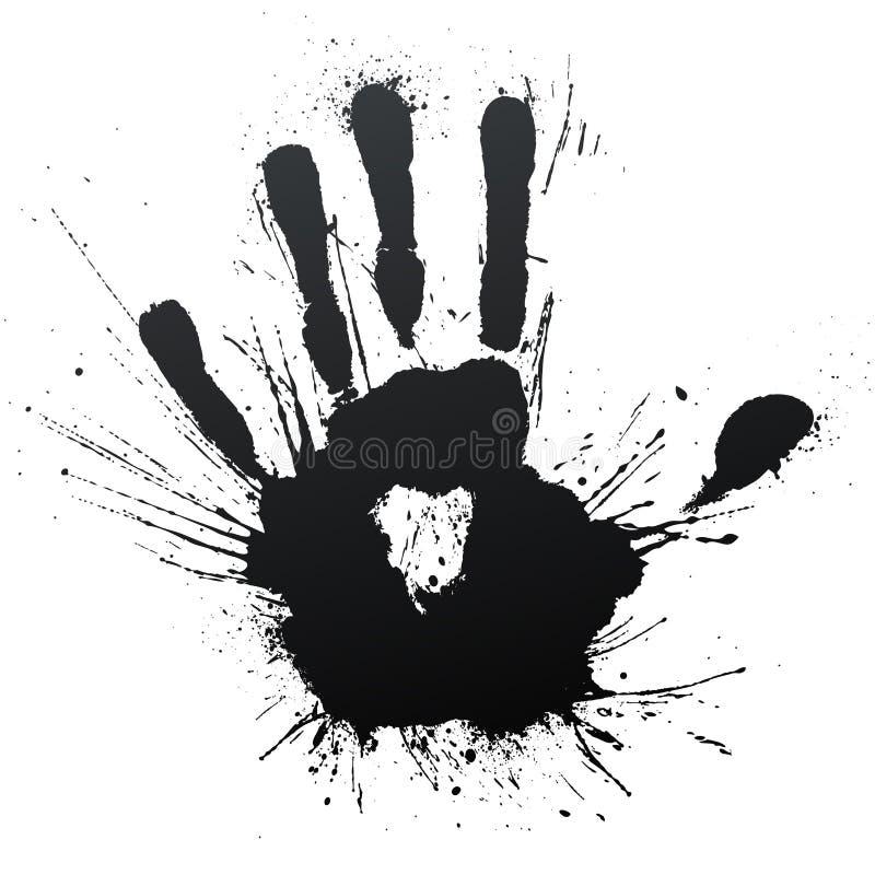 soufflez l'éclaboussure de handprint illustration de vecteur