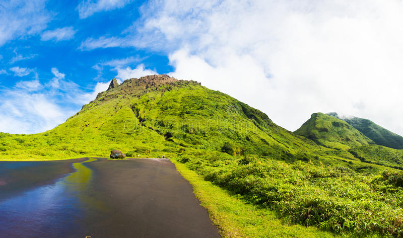 Soufriere volcano stock photography