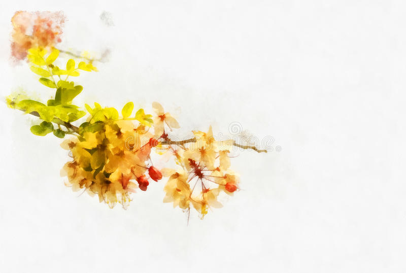 Souhait de la fleur d'arbre illustration de vecteur