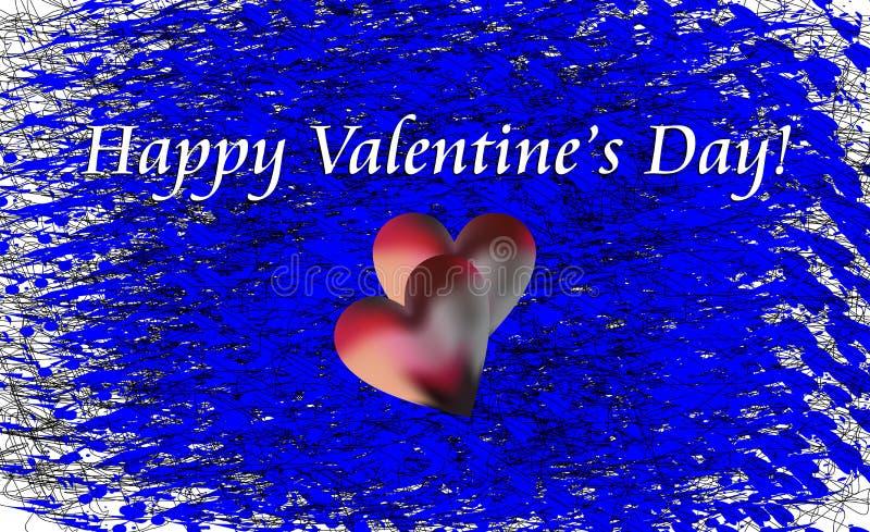 Souhaits de Valentine sur des vagues comme le fond illustration de vecteur