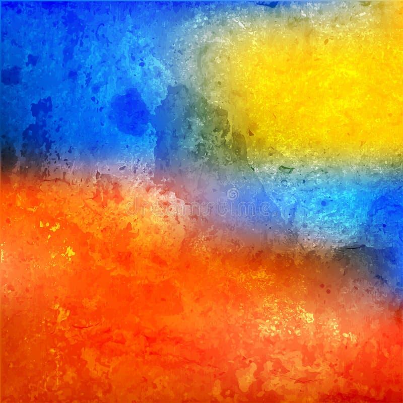 Souillure colorée d'aquarelle illustration libre de droits
