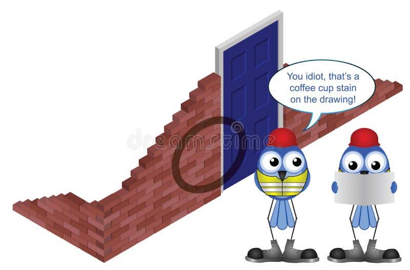 Souillure de café illustration stock