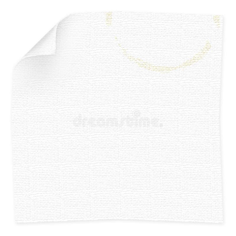souillure de serviette de cuvette de café illustration stock