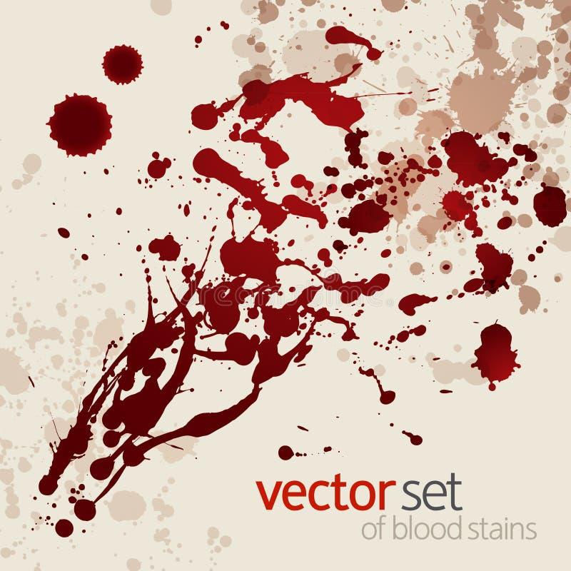 Souillures de sang éclaboussées, positionnement 1 illustration libre de droits