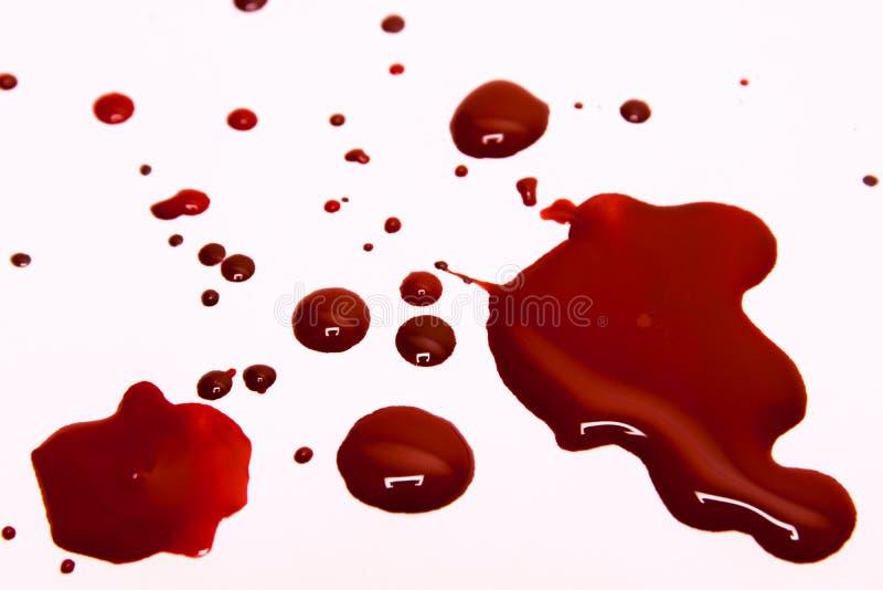 Souillures de sang photo libre de droits