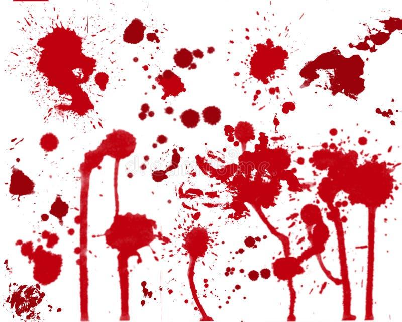 souillures de sang illustration de vecteur