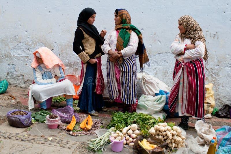 Souk在舍夫沙万,摩洛哥 免版税库存图片
